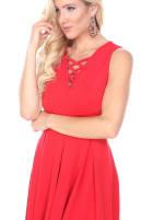 Shay Fit & Flare Crisscrossed Neckline Dress - 16