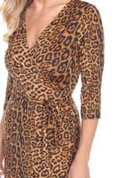 Mariah 3/4 Sleeve V-Neckline Wrap Dress - 7
