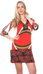Madelyn Bell Sleeve V-Neckline Dress - 3