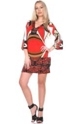 Madelyn Bell Sleeve V-Neckline Dress - 1