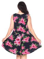 Plus Floral Print 'Crystal' Dress - 35