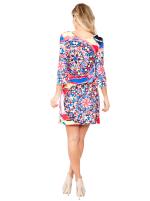Nikki Three Quarter Bell Sleeve Knit Dress - 18