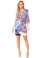 Nikki Three Quarter Bell Sleeve Knit Dress - 17