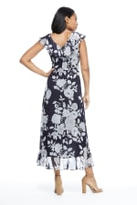 Mia Monotone Floral Garden Party Dress - Petite - 2