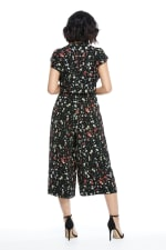 Susie Ruffle Sleeve Tie Front Cropped Jumpsuit - Petite - 10