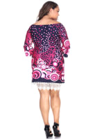 'Lenora' Long Sleeves Dress - Plus - 2