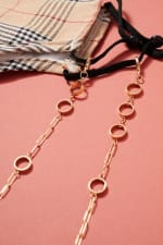 Gold Plated O Rings Metal Chain Mask Lanyards - 4