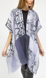 Colorblock Snakeskin Kimono - 3