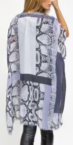 Colorblock Snakeskin Kimono - 2