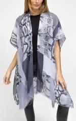 Colorblock Snakeskin Kimono - 1