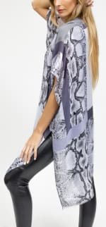 Colorblock Snakeskin Kimono - 4