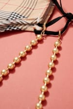 Gold Plated Metal Beaded Mask Lanyards - 4