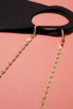 Gold Plated Metal Hearts Linked Mask Lanyards - 4