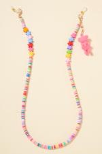 Star Rubber Beads Teddy Charm Lanyard - 3