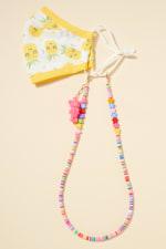 Star Rubber Beads Teddy Charm Lanyard - 5