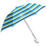 Caribbean Joe Clamp Beach Umbrella with UV - Blue / yellow - Front