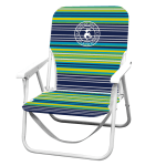 Caribbean Joe Folding Beach Chair - Blue Stripe - Back