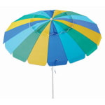 Caribbean Joe 8ft. Beach Umbrella with UV - Solid Combo - Back