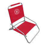 Caribbean Joe Low Sand Beach Chair - Red - Back