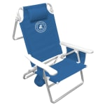 Caribben Joe 5-Position Folding Chair - Blue - Front