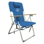 Caribbean Joe High Weight Capacity Chair - Blue - Front