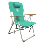 Caribbean Joe High Weight Capacity Chair - Teal - Back