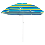 Caribbean Joe 6 ft. Beach Umbrella with UV - Blue / Yellow - Front
