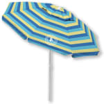 Caribbean Joe 6.5 ft. Beach Umbrella with UV - Blue / Yellow - Front