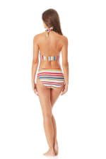 Anne Cole Marilyn Banded Halter Bra - Multi - Back