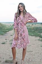 Luna Paisley Hanky Hem Dress - 1