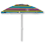 Caribbean Joe 7 ft. Beach Umbrella with UV - Rainbow Stripe - Back