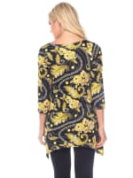 Floral Chain Printed Tunic Top with Pockets - 2