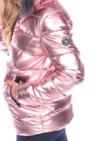 Metallic Puffer Hooded Coat - 9