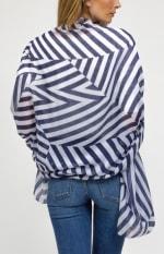 Oversized Stripe Shawl - 2