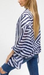 Oversized Stripe Shawl - 4