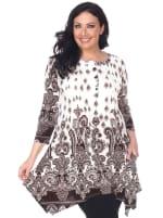 Plus Size 'Sapphira' Tunic - 1