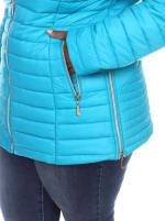 Lightweight Front Zipper Puffer Coat - Plus - 14