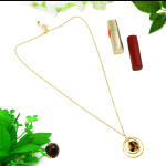 Women Tortoise Shell Long Resin Brown Chain Necklace - 1