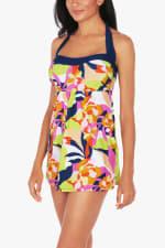 Caribbean Joe Abstract Floral Swimdress - 3