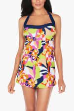 Caribbean Joe Abstract Floral Swimdress - 1