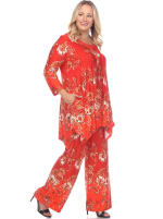 Head to Toe Paisley Printed Palazzo Sleepwear Set - Plus - 13