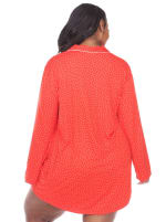 Long Sleeve Button Front Nightgown - Plus - 12