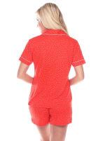 Short Sleeve Comfortable Pajama Set - 12