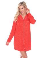Long Sleeve Sleep Nightgown Shirt - 13