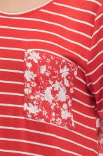 Mix Media Stripe Knit Top - 3