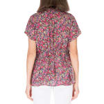 Surplice Peplum Ruffle Blouse - Multi Floral - Back