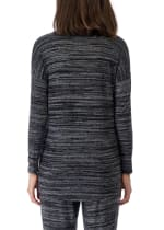Long Sleeve V-Neck Pullover Top - 2