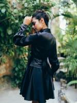 Elsa Long Sleeve Wrap Dress - 10