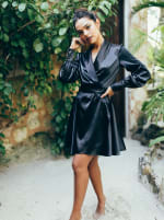 Elsa Long Sleeve Wrap Dress - 7