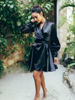 Elsa Long Sleeve Wrap Dress - 11